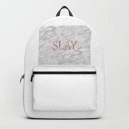 Slay rose gold marble Backpack