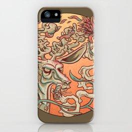 Deer Smoke & Indian Paintbrush iPhone Case