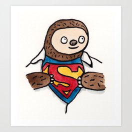 Super Sloth Art Print