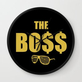The Bo$$ Wall Clock