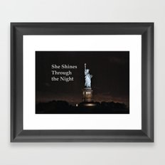 She Shines Through the Night Framed Art Print