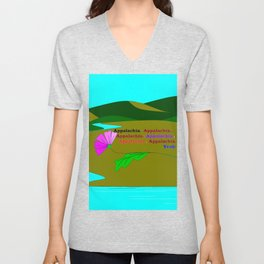 My Colorful and True Ode to Beautiful Appalachia! Unisex V-Neck