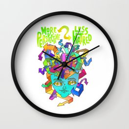 More Perspective = Less Hatred Wall Clock