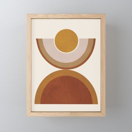 Modern Geometry Framed Mini Art Print