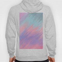 Modern abstract artsy pink lavender teal brushstrokes Hoody