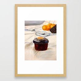 Clementine Cupcake Framed Art Print