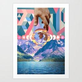 Reine Du Nord Collage Art Print
