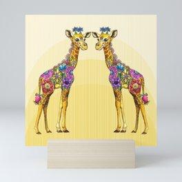 Giraffe Friends Mini Art Print
