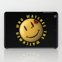 watchmen iPad Cases featuring Who Watches The Watchmen? by Jack Allum