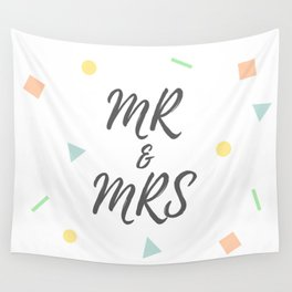 MR and MRS Wall Tapestry