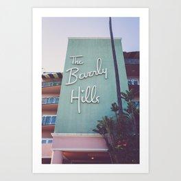 Beverly Hills Mod Art Print