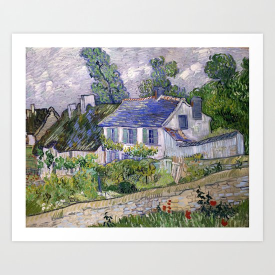Vincent Van Gogh Houses At Auvers by artgallery