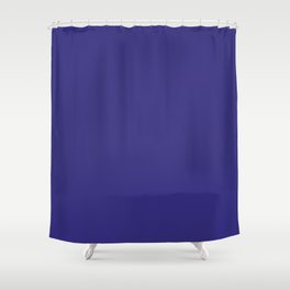 Solid Dark Blue Whale Color Shower Curtain