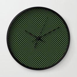 Treetop and Black Polka Dots Wall Clock