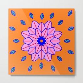 Flower Power Orange Vibes Metal Print