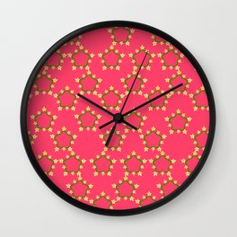 textile pattern 4 Wall Clock