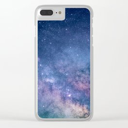 Milky Way Stars (Starry Night Sky) Clear iPhone Case
