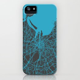 Dublin map blue iPhone Case
