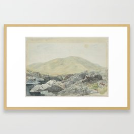 River Acheron, 3rd February 1864, Canterbury, by James Crowe Richmond Framed Art Print