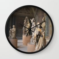 medieval Wall Clocks featuring medieval prayers by Lisa Carpenter