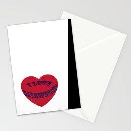 I love narrowboats heart Stationery Cards