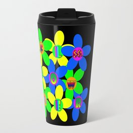 Flower Power 60s-70s Travel Mug