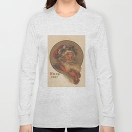 Vintage Santa Claus Illustration (1907) Long Sleeve T-shirt
