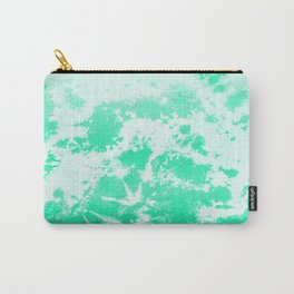 Modern Seafoam tie dyed print Carry-All Pouch