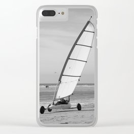 Sand yachting Clear iPhone Case