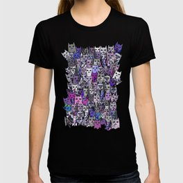 Ultraviolet Gemstone Cats T-shirt