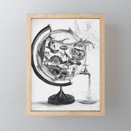 The Spill Framed Mini Art Print