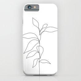 Single line plant drawing - Danya iPhone Case