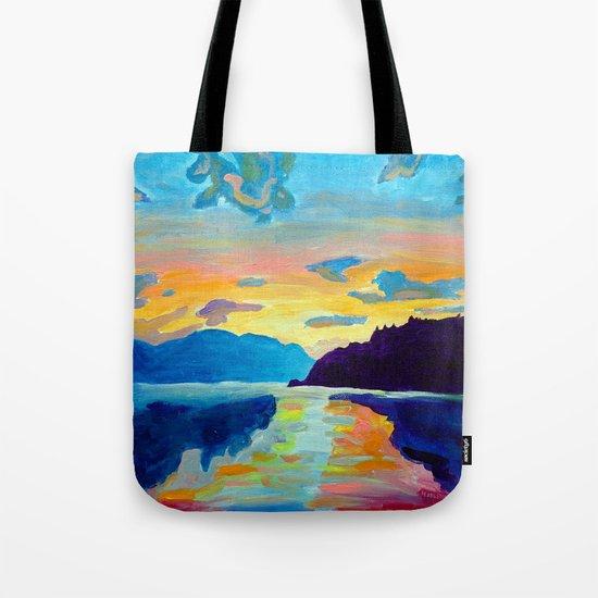 Crossing Lake Okanagan Tote Bag