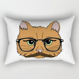 Mustache Cat Rectangular Pillow