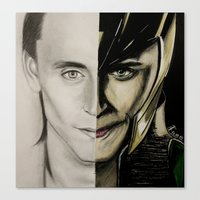 tom hiddleston Canvas Prints featuring Tom Hiddleston by Goolpia
