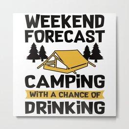 Camping Accessories Metal Print