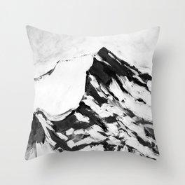 MOUNTAIN TOPS, peaks, snow Throw Pillow