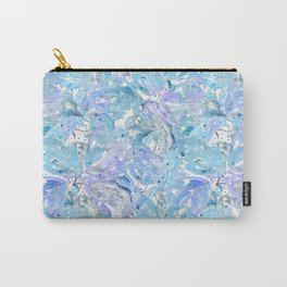 Blue and cornflower leaves. Carry-All Pouch