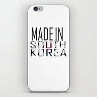 korea iPhone & iPod Skins featuring Made In South Korea by VirgoSpice