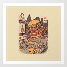 Burgerzilla Art Print