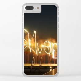 Silver Lake Nights Clear iPhone Case