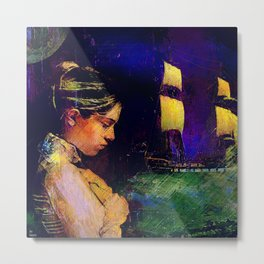 The departure of the sailor Metal Print