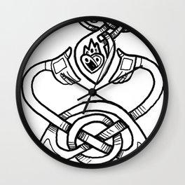 Claddagh B&W Wall Clock