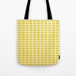 mustard chevron Tote Bag