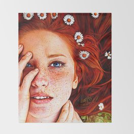 Quintessentially Redhead - Ballpoint Pen Throw Blanket