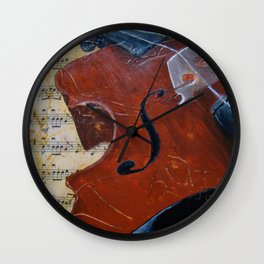 Heart Strings Wall Clock