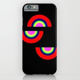 shapes on black -21- iPhone Case