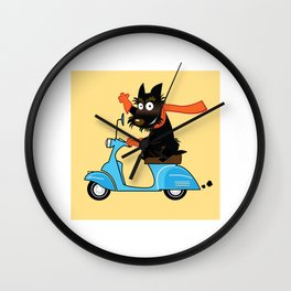 Scottie and Scooter Wall Clock