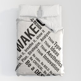 Graphic Design. Wake Up Comforters