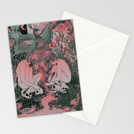 Two Sisters I: Peacock & Melon Stationery Cards